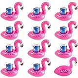 TONUNI Flamingo Inflatable Drink Holder Float Coaster 12-Pack