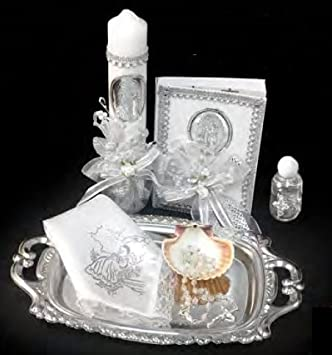 Spanish Handmade Christening/Baptism Our Lady of Guadalupe Set for Girl, Boy, or