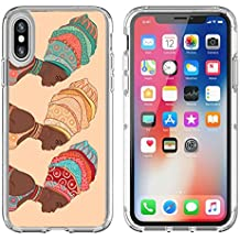 MSD Apple iPhone X Clear case Soft TPU Rubber Silicone Bumper Snap Cases iPhoneX Image ID 24583872 Pretty African American woman in traditional turban
