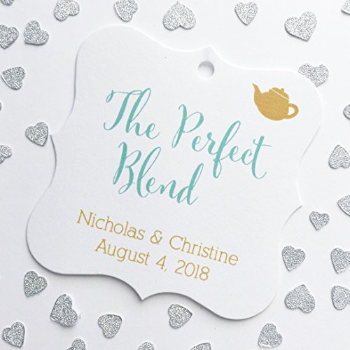 The Perfect Blend Tea or Coffee Wedding Favor Hang Tags (FS-098)