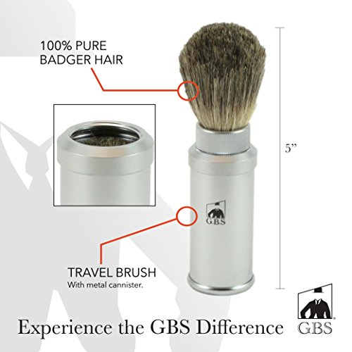 GBS Badger Bristle Shaving Cannister product image
