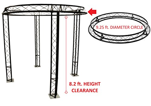 9.25' Metal (9.2 ft Diameter Trade Show Exhibition Booth Trusses DJ Stage Metal Circle Truss)