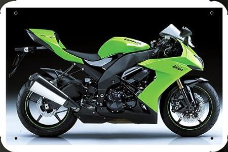 Kawasaki Ninja Zx 10R 1 metal poster cartel hojalata signo ...