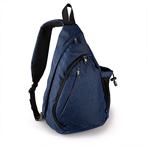 OutdoorMaster Sling Bag - Small Crossbody Street/Travel Backpack for Men & Women (Dark Blue)