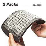 2 Packs 160 Mini Cubes Ice Cube Tray- Flexible DIY Molds Maker, BPA Free