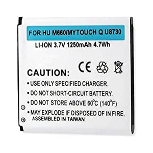 Huawei MyTouch Q Cell Phone Battery (Li-Ion 3.7V 1250mAh) Rechargable Battery - Replacement For Huawei HB5N1H Cellphone Battery