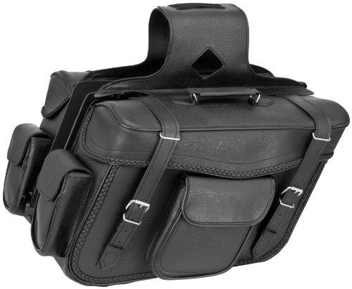 River Road Quantum Zip-Off QR Saddlebags Slant XL Braided 21.5