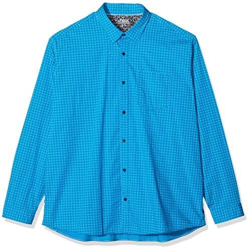 S.Oliver Big Size 15.912.21.7203 Camisa Casual, Turquesa (türkisblau AOP 62A5), XXXXXL para Hombre: Amazon.es: Ropa y accesorios