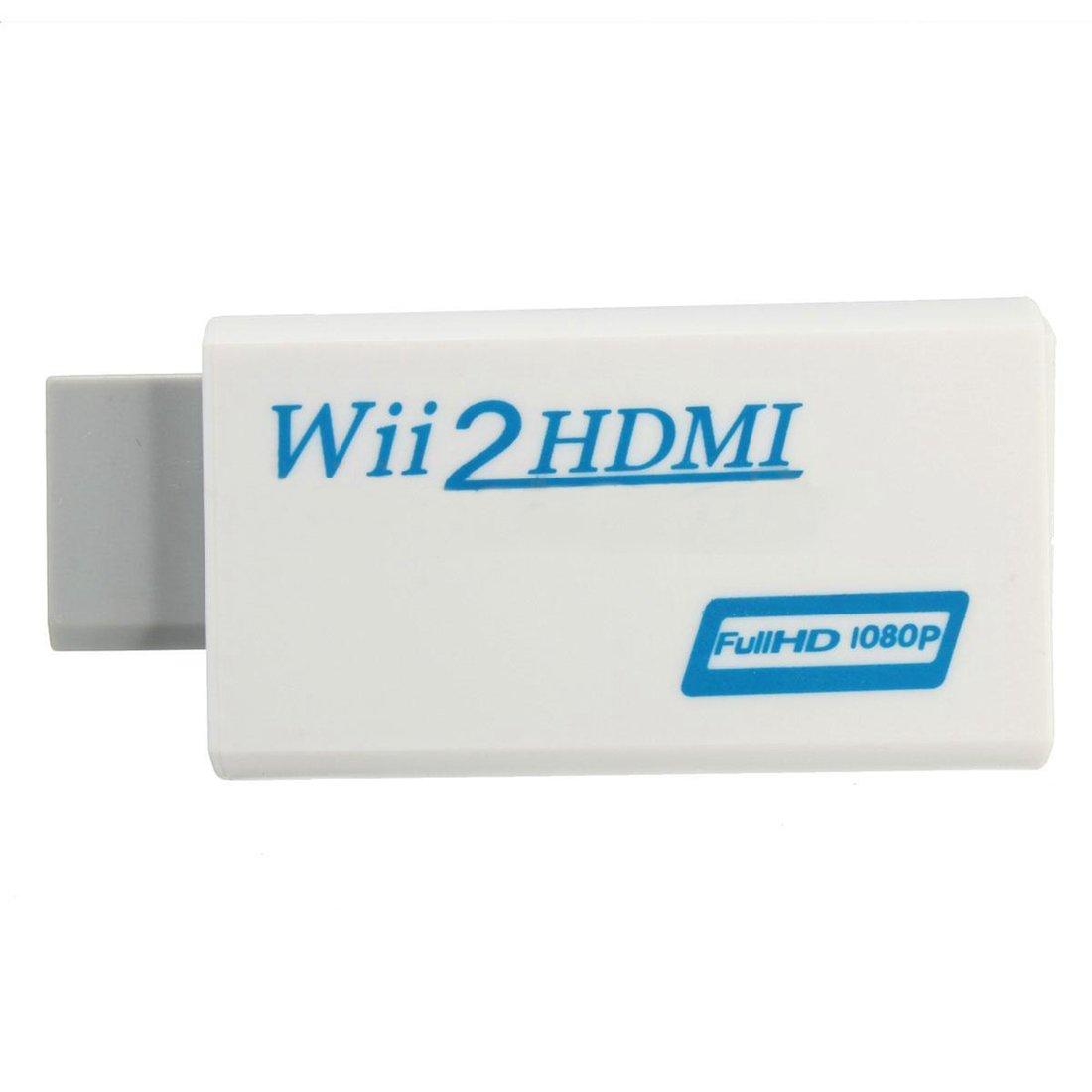 REFURBISHHOUSE Wii zu HDMI Wii2HDMI Full HD FHD 1080P Konverter Adapter 3,5 mm Audio Ausgang Buchse