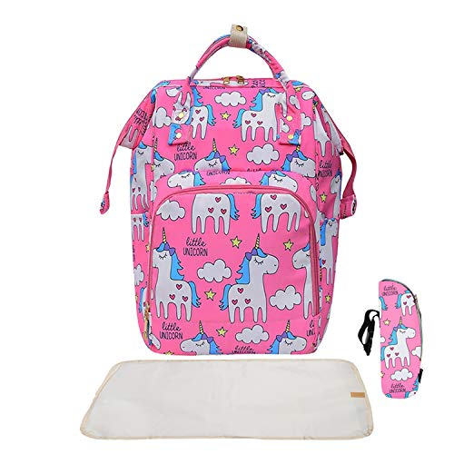 Lsarimo Baby Diaper Bag Backpack for Mother Traveling  Pink