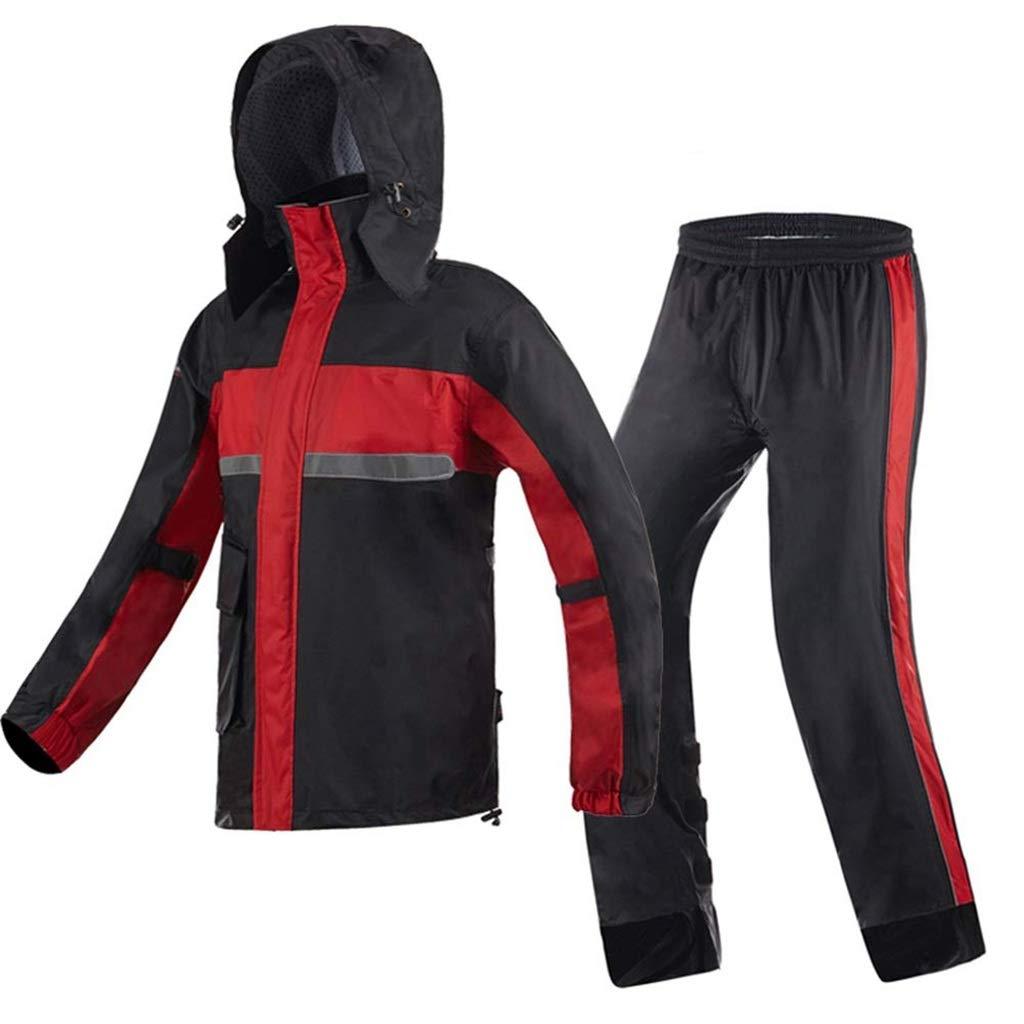 Rouge XXXL TzJz Combinaison imperméable Pluie Pluie Poncho Rain Seal Hommes Split Riding Rainstorm Set pour Hommes (Couleur   Jaune, Taille   M)