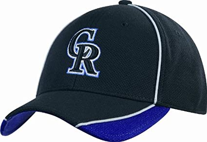 8128b4e05 MLB Colorado Rockies Authentic Batting Practice Cap, Black/Purple,  Medium/Large