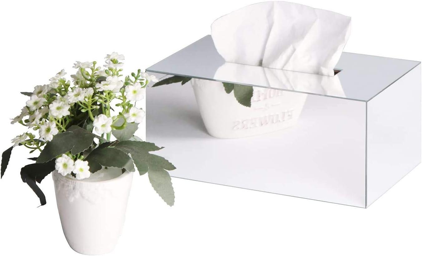 24.2 x 14.3 x 11 cm MK219B JackCubeDesign Overall Acrylic Mirror Rectangle Tissue Box Holder Case Kleenex Storage Case Stand Box Napkin Holder Organiser -