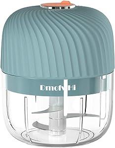 DmofwHi Wireless Electric Mini Chopper,Powerful Garlic Chopper,Onion Grinder, Masher, Crusher, Food Processor for Ginger,Chili,Veggie - Blue
