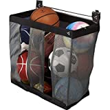 Sporting Equipment 24'' W Ball Caddy Garage Storage Wall Mounted Sports Rack Holds Up to Nine Basketballs