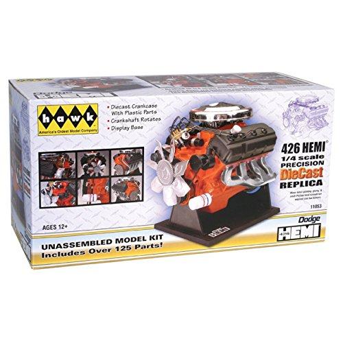 hawk-1-4-scale-426-dodge-street-hemi-engine-diecast-model-kit