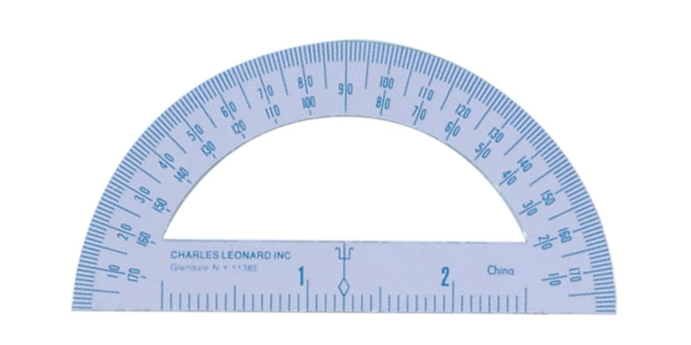 Charles Leonard Inc. Protractor, 4 Inch Enamel Coated Metal, White, 77410) by Charles Leonard