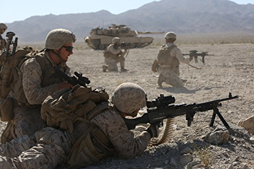 3rd Battalion 7th Marine Regiment - Home Comforts LAMINATED POSTER Marines with Company L, 3rd Battalion, 7th Marine Regiment, 1st Marine Division work alongside an M1.