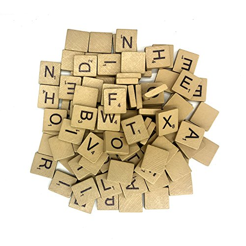 Price comparison product image Maggift Wood Alphabet Tiles 500 Letter Pieces Tiles Game