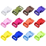 "Paracord Planet Brand 5/8"" Contoured Side Release Buckles - 60 Pack - 12 Colors"