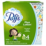 Puffs Plus Lotion Facial Tissues, Cube, 6 Boxes (56 Count Each) (12 Boxes)