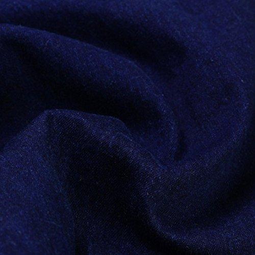 Da Nastrati Bianco Elasticizzati Slim Primavera Strappati Autunno Foro Denim Zip pantaloni Blu Skinny Aderente Piccoli Pantaloni Uomo Piedi Slim Jeans Fit Odjoy Scuro E Con wHqtvO1Ox5