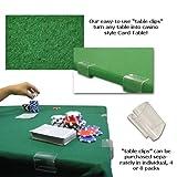 POKER CARD TABLE FELT 2YD X 3YD GREEN