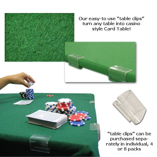 POKER CARD TABLE FELT 2YD X 3YD GREEN by Clever Pro