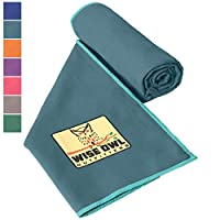Camping Towel by Wise Owl Outfitters - Ultra Soft Compact Quick Dry Microfiber - Great for Fitness, Hiking, Yoga, Travel, Sports, Backpacking & The Gym - Free Bonus Hand Towel
