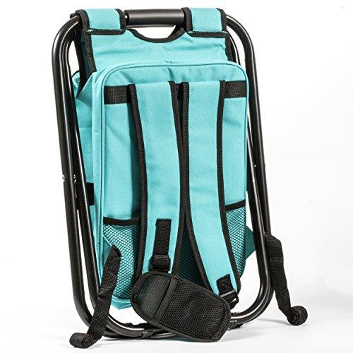 Mini Backpack Folding Chair W Cooler Bag Storage