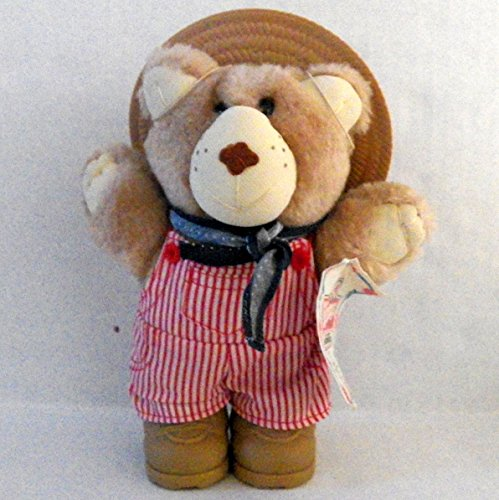 Wendy's Dudley Furskins Bear with Farmer Hat- Vintage 1986