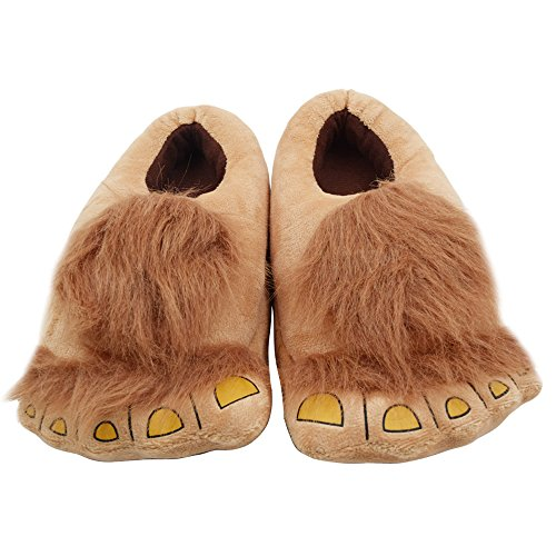 Ibeauti Kids Furry Monster Adventure Slippers, Comfortable Novelty Warm Winter Hobbit Feet Slippers for Boys Girls