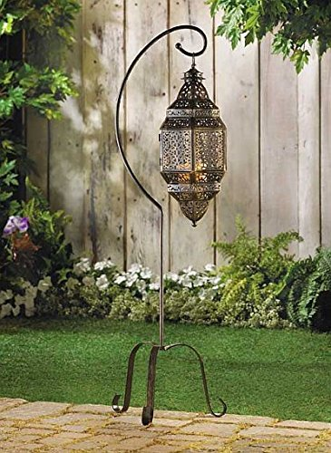 Hanging Candle Lantern Holder Lovely Outdoor Indoor Ornament Tabletop Floor Decorative Display Decor (Outdoor Floor Lanterns)
