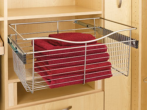 Rev-A-Shelf - CB-181407SN-1 - Satin Nickel Closet Pull-Out Basket