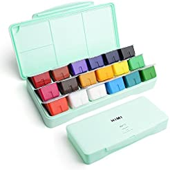 MIYA Gouache Paint Set, 18 Colors x 30ml...