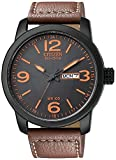 Citizen Watches  Men's BM8475-26E Eco-Drive Strap Watch Black Ion Plated/Brown One Size