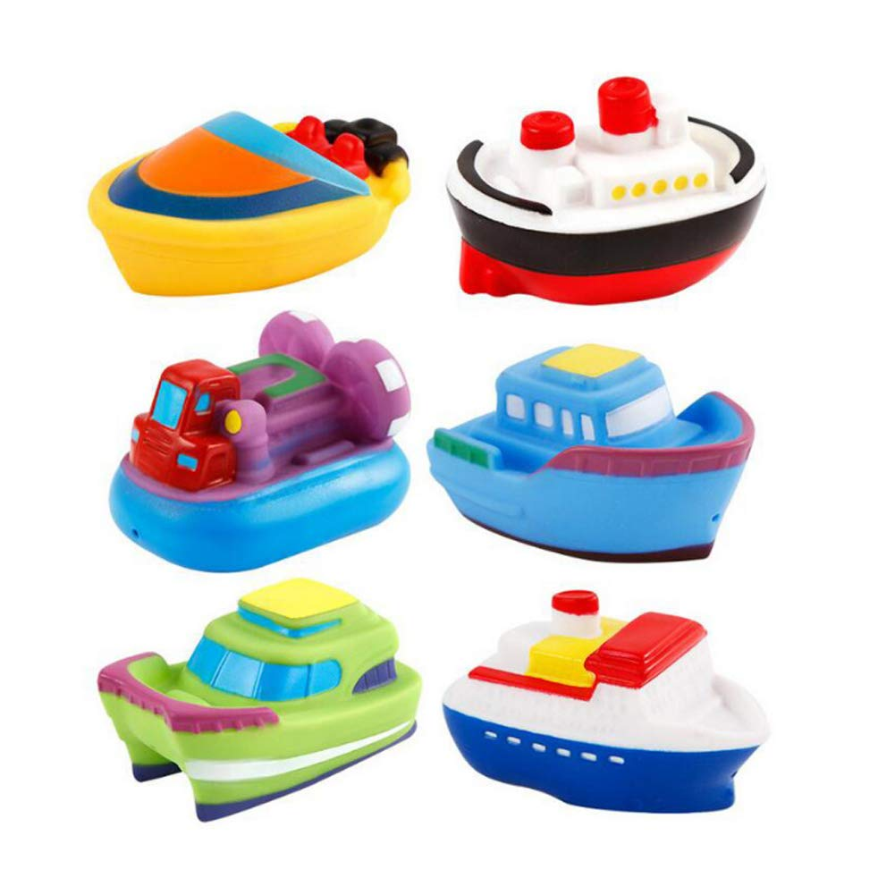 Pack of 6 Bath Toys Pool Toy Boat Speed Boat Bathtub Toy Toddlers Children's Water Toys Rocita