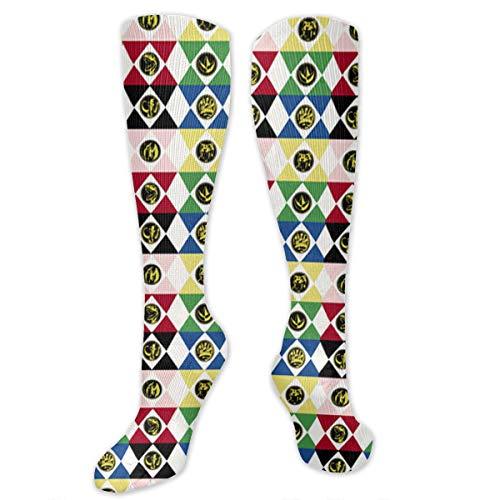 Power Rangers high socks Long Socks Boot Stocking Compression Sports Socks For Women Men