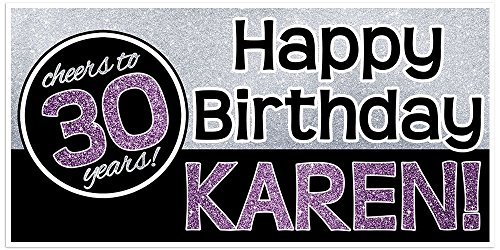 30th 40th 50th Birthday Banner Personalized Party Backdrop Decoration