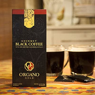 2 Boxes Gourmet Black Coffee With 100% Organic Ganoderma Lucidum (1 Box of 30 Sachets)