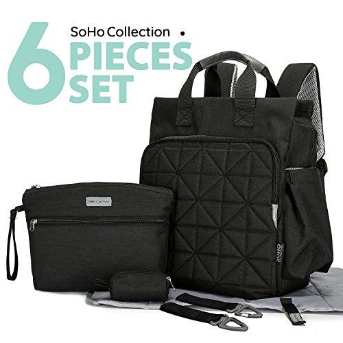 SoHo diaper bag backpack Kenneth 6 pcs nappy tote stylish ba