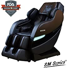 TOP PERFORMANCE KAHUNA SUPERIOR MASSAGE CHAIR WITH NEW SL-TRACK WITH 6 ROLLERS - SM-7300 BROWN/BLACK (Dark Brown/Black)