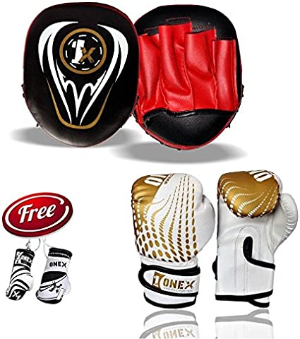 ONEX Boxing Focus Pads Hook /& Jab Mitts Kick MMA Training Punch Bag Kick Curved.
