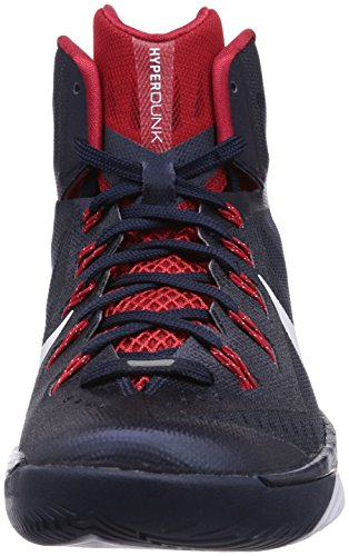 Nike Hyperdunk 2014 Basketballschuhe - Scarpa, taglia Blu (Obsidian/White-university Red)