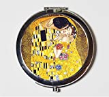 Gustav Klimt The Kiss Compact Mirror Art Nouveau Fine Art Make Up Pocket Mirror for Cosmetics