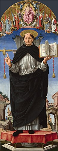 'Francesco Del Cossa Saint Vincent Ferrer ' Oil Painting, 30 X 77 Inch / 76 X 196 Cm ,printed On Polyster Canvas ,this Cheap But High Quality Art Decorative Art Decorative Prints On Canvas Is Perfectly Suitalbe For Kids Room Artwork And Home Gallery Art And (Flash Dancer Costume Ideas)
