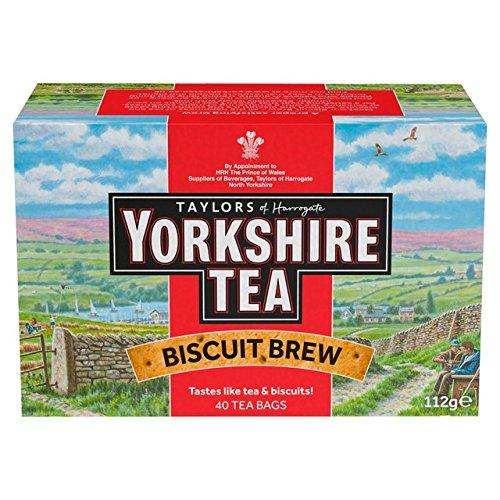 - Yorkshire Tea Biscuit Brew 40 Tea Bags 100G
