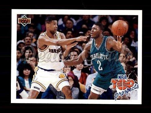 - 1991 Upper Deck # 438 Top Prospects Larry Johnson/Billy Owens Charlotte/Golden State Hornets/Warriors (Basketball Card) Dean's Cards 8 - NM/MT Hornets/Warriors
