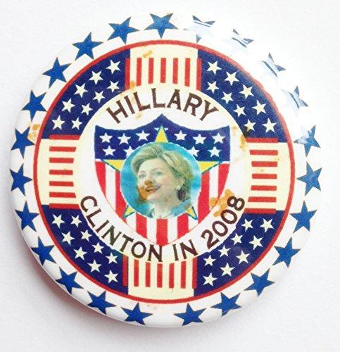 Hillary Clinton 2008 Political Pin Back Button -