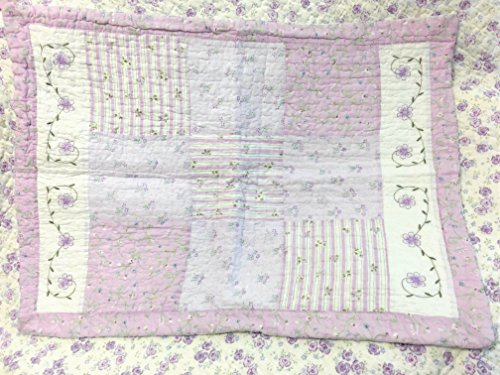 Cozy Line Home Fashions Love of Lilac Bedding Quilt Set, Light Purple Orchid Lavender Chic Lace Floral 100% Cotton Reversible Coverlet, Bedspread, Gifts for Girls Women (Lilac, King - 3 piece) by Cozy Line Home Fashions (Image #6)